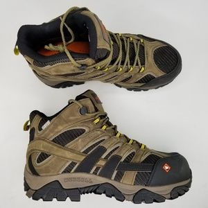 Merrell Moab 2 Mid Safety Toe Work Boots 9.5 W